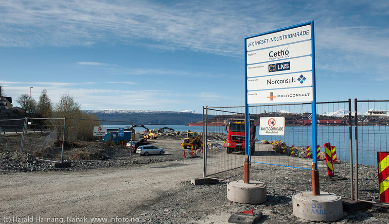 Bygging av Jektnes industriområde på Ankenesstrand. 19. mai 2014