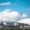 Narvik kirke og Narvik sykehus. 21. juni 2015.