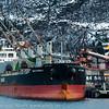 """""""Britannia"""": Første skip som laster malm via utlaster hos Northland Ressourses på Fagerneskaia. Sikpet ankom 27. november 2013, skal laste 45,7 tonn konsentrat på antatt tre dager."""