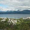Taraldsvik og Veggfjellet bak.