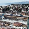 Tomteområde mellom Nordkraft Arena og Amfi. 7. mars 2014.