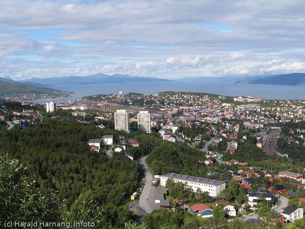 Narvik sett fra Taraldsvikfoss kraftverk