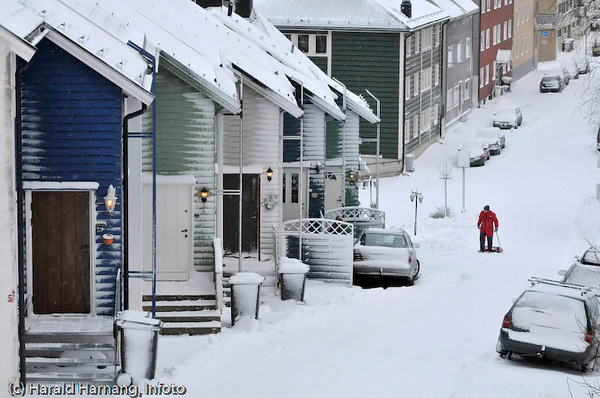 Snevær i Narvik, februar 2008.