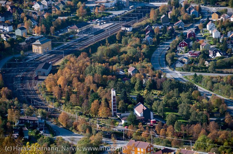 Narvik jernbanestasjn, deler av Taraldsvik.