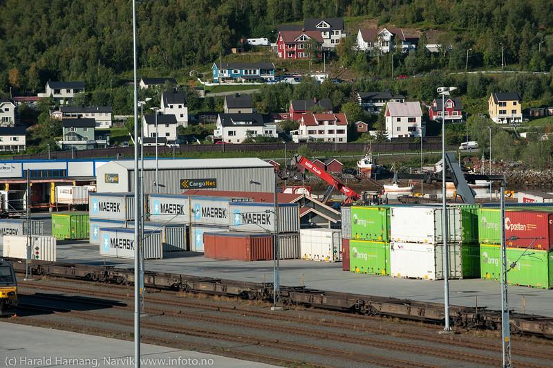 Containere på Fagernesterminalen