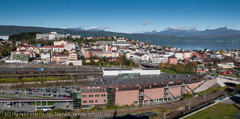 Amfi Narvik. Narvik sentrum, foto 19. september 2012.
