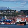 Cargoskipet Aasli, på Narvik havn 13. sept 2015. Flag:  Gibraltar. Gross Tonnage:  3968<br /> Deadweight:  6630 t<br /> Length × Breadth:  100m × 16m. Year Built:  1994