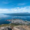 Narvik og Ankenes fra Fagernestoppen (1017 moh). Juli 2013.