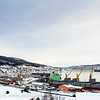 Første last fra Northland Resources fra midlertidig lasteanlegg på Fagernes. Lasting 12. feb 2013. Star Norita fra Grimstad (Ugland-rederi) laster 40.000 tonn jernmalm fra Kaunisvaara. Skal til Nederland. Skipet kom mandag 4. feb om morgenen. Det var beregnet 8-10 dager til lasting, men til sist dro man etter 21 dager med 55.000 tonn om bord.<br /> <br /> Star Norita left the Port of Narvik on Monday, February 25, 2013, loaded with approximately 55,000 tonnes iron ore concentrate. Picture during loading. Permanent loading facilities still under construction.