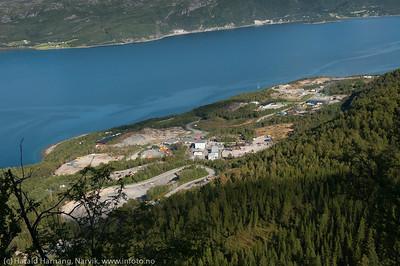 Djupvik industriområde, øst for Narvik, august 2014.