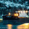 Malmskipet Qing May av Liberia 5. 11. 2012. 206117 dwt. Skipet er 299 meter lang og 50 meter bred. Rekordlast på Narvik havn har World Gala som lastet 242000 tonn 30. juni 1979. Foto: Harald Harnang.
