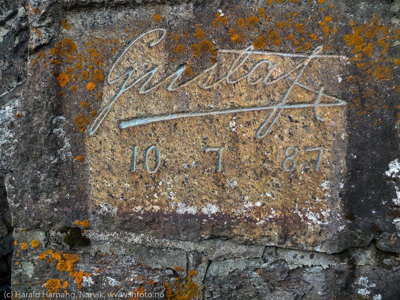 Kronprins Gustafs navnetrekk fra 1877. Stasjonsveien.
