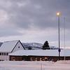 Sjømannskirka i Narvik. 3. juledag 2014. Snevær på natta. Mørketid og en julestille by.