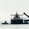 Qing May (Liberia) er nettopp lagt til kai 5 ved LKABs anlegg i Narvik. Skipet er 300 m langt og 51 m bredt.