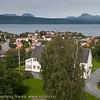 Bromsgård og parkanlegg. Oversiktsbilde Narvik. August 2012.