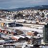 """Deler av """"trekanten"""", området mellom Amfi og Nordkraft arena. Foran Scandi hotel."""