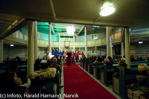 Liten skolekonsert i Ankenes kirke, høst 2010