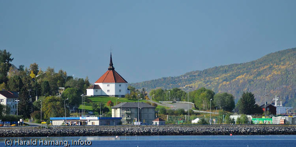 Ankenes kirke. Foto fra Fagernes.