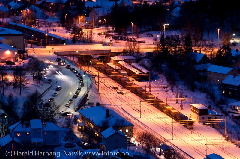 NSBs område ved Narvik jernbanestasjon
