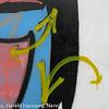 Detalj fra tagget toilettanlegg ved Ornes badeplass