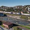 Ubebygget område mellom Amfi og Nordkraft Arena. Narvik sentrum, foto 19. september 2012.