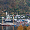 Northland Resourses utskipningsanlegg under bygging, september 2012.<br /> Northland Resourses shipping facilities in Narvik under construction.