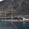 Malmkaia til Nortland Resources på Fagernes begynner å ta form. Foto: 15. mai 2012.<br /> Northland Resources shipping facilities in Narvik under construction.