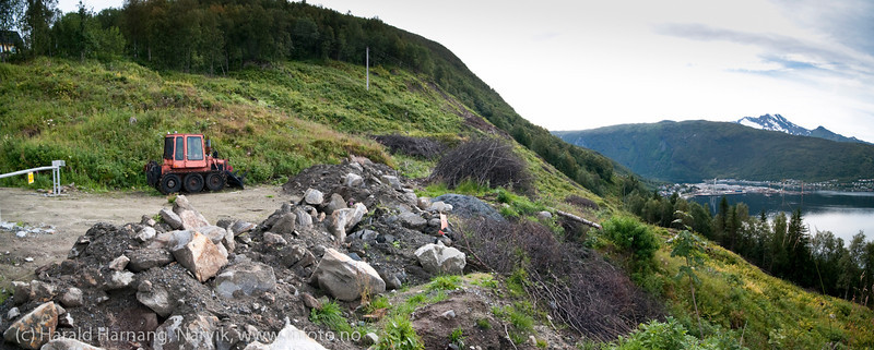 Utbyggingsområde nord for Skistuafeltet. August 2012.