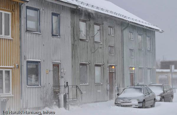 Snefokk i Narvik, februar 2008.