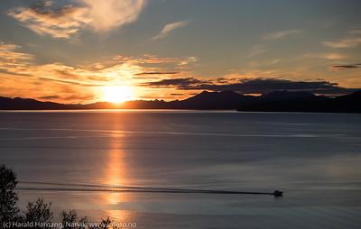 Solnedgang i Framneslia, 24. september 2015.