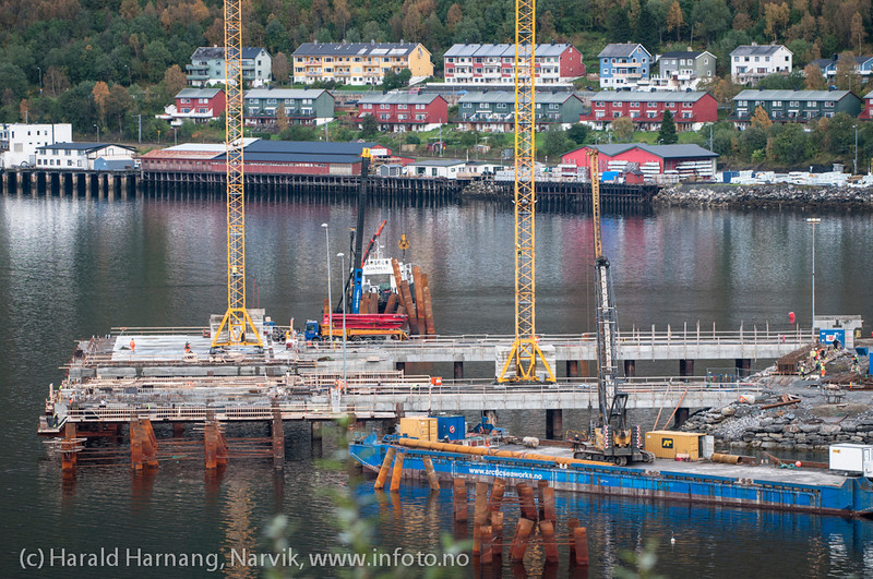 Northland Resources utskipningsanlegg under bygging, september 2012.<br /> Northland Resources shipping facilities in Narvik under construction.