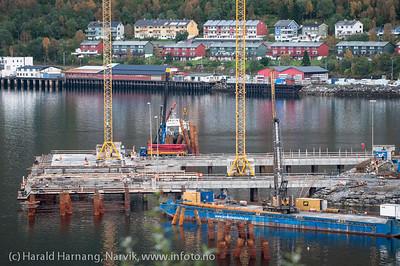 Northland Resources utskipningsanlegg under bygging, september 2012. Northland Resources shipping facilities in Narvik under construction.