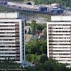 Høyhusene Tøtta 1 og Tøtta 2, tegnet av arkitekt Hovig.