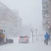 """Narvik sentrum,  Kongens gate/E6. Forsmak på uvær i Narvik sentrum, ekstremværet """"Ole"""" var ventet å slå til i Narvik kl 16-18. Det kom heldigvis aldri i full tyngde. Bildet tatt på formiddagen i sentrum, ca kl 12-13."""