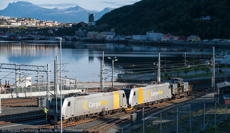 Cargo Net i aktivitet på Fagernesområdet sør for Narvik.