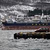 Høy flo pga fullmåne og pålandsvind. Narvik havn 20.3.2011