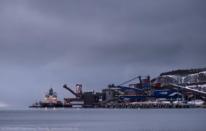 Malmskip klar for avgang LKABs anlegg i Narvik