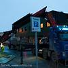 25.12.2011: Mens store deler av Norge opplevde ekstremvær på natta, fikk vi som vanlig i Narvik bare små problemer. Vinden skrellet av sørveggen på det gamle Polet.
