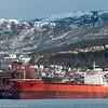 """Greskregistrert cargo """"Samjohn Vision"""". 300 m lang, 50 m bred. Ved kai 5 3. mai 2014."""