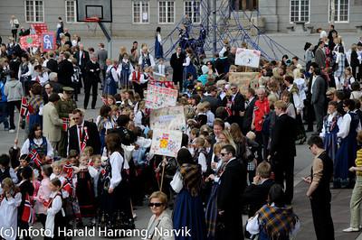 17. mai 2010, snart klar for avmarsj fra skolegården ved Villaveien skole.