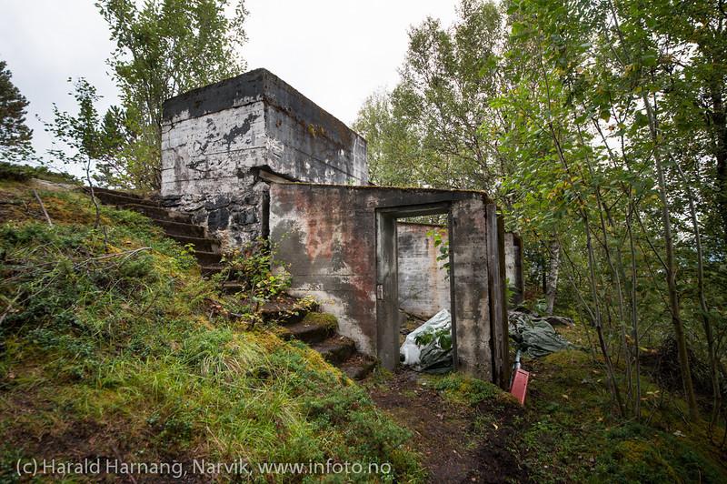 Øyjord, mange tyske bunkre og kanonstillinger her. 5. september 2013.
