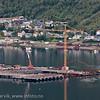 Malmkai-terminal for Northland Ressources, Fagerneskaia. Progresjon for kai-anlegg pr august 2012. Northland Resourses shipping facilities in Narvik under construction.