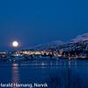 januar 2010, fullmåne over Narvik
