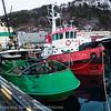 "Narvik havn, slepebåter. I bakgrunnen ""Gamle Skogøy"", under restaurering. nov 2012."