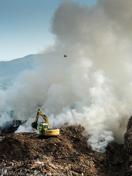 Brann HRS fliselager. 17. august på kvelden startet det å brenne i et stort lager flis (kuttet tremateriale) på HRSs anlegg på Djukvik, nær Narvik. Mandag 18. var det full fyr, og det tok ytterligere tre-fire dager å få slokket brannen. 500 tonn trevirke til en verdi av 175.000 kroner gikk opp i røyk.