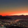 Mørketid over Narvik. Ettermiddagslyset i sør.