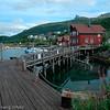 Småbåthavna i Narvik, båtforeningens lokale med gjestebrygge.