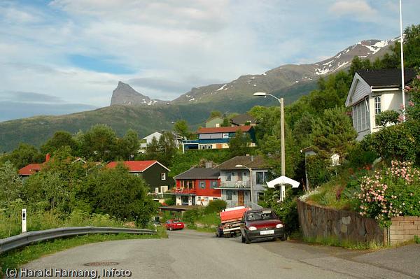 Deler av Vassvik. I bakgrunnen Tøttatoppen.