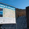 Infoskilt ved inngang til Tøttadalen ved minikraftverk. sept 2012.