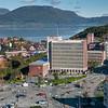 Narvik rådhus midt på. Narvik sentrum, foto 19. september 2012.